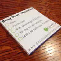 Blog Post SEO Checklist Post-It