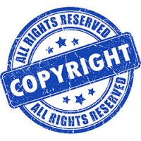 Copyright - All Rights Reserved stamp