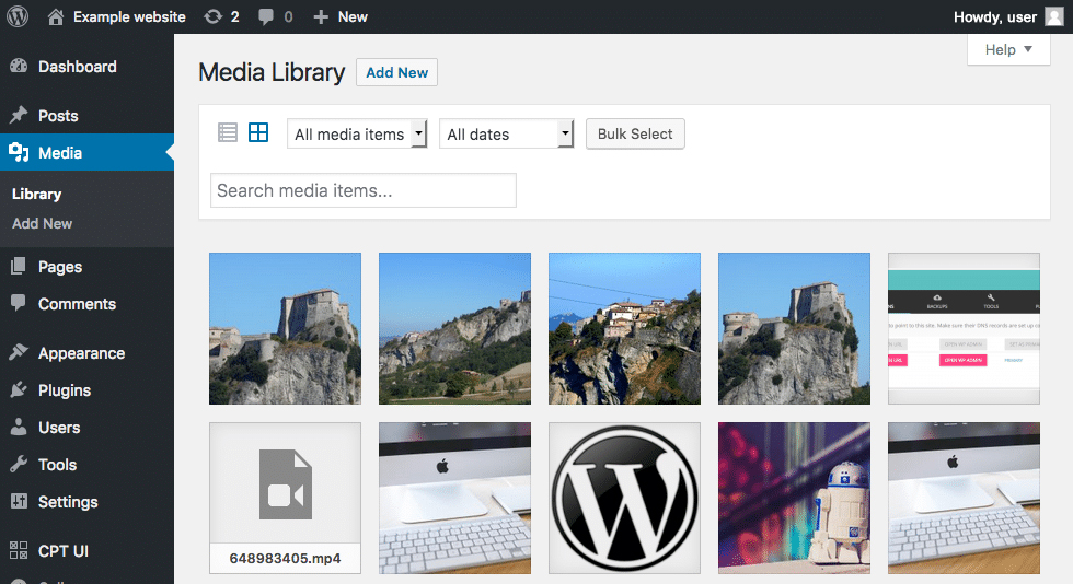 Access your Media Library to add Alt Text to your images