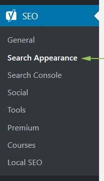 To access your Home page title and description, go to Yoast > Search Appearance on the WordPress menu