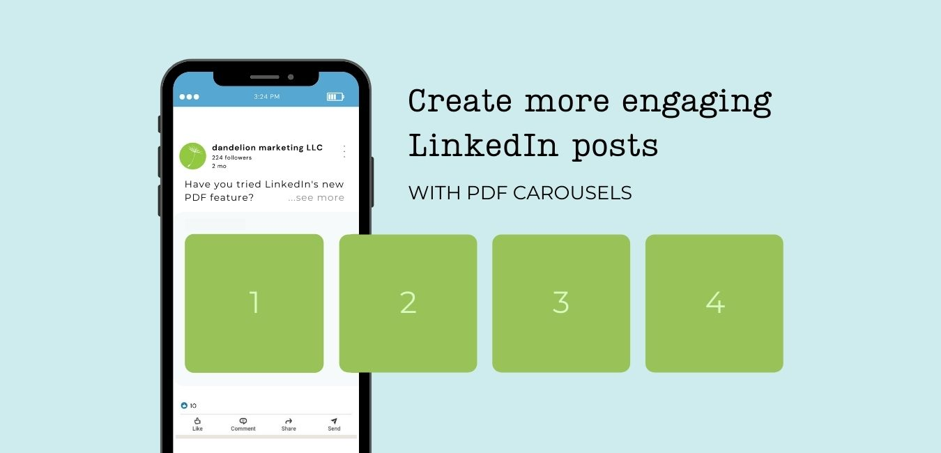 Create more engaging LinkedIn posts with PDF carousels