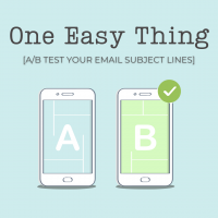 ONE EASY THING: A/B test your email subject lines