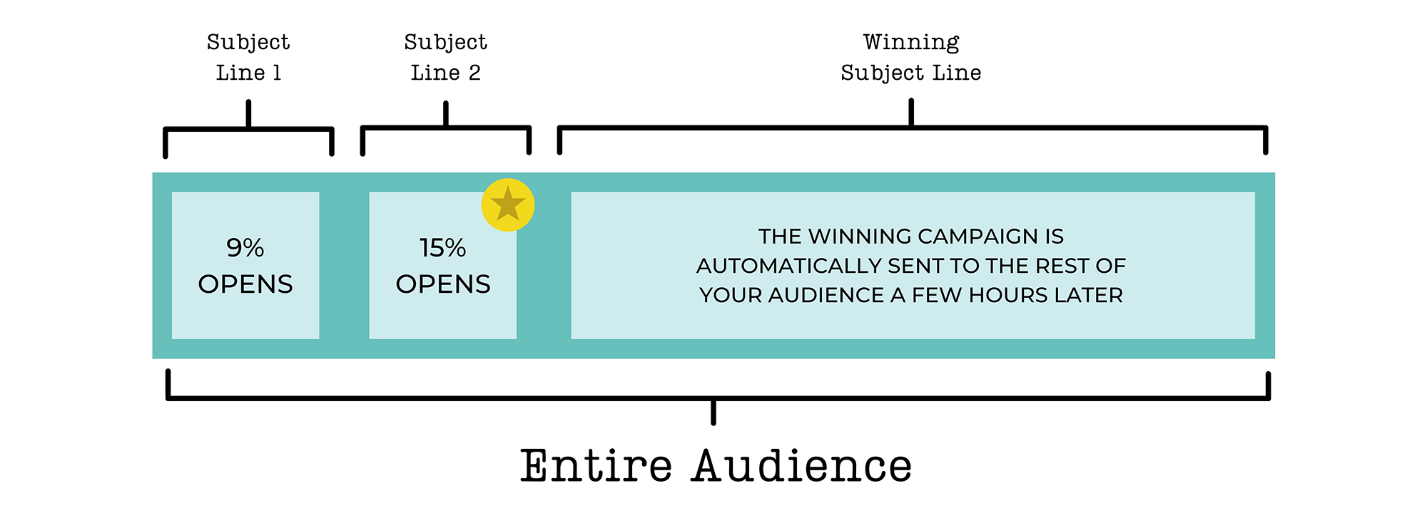 Email campaign's subject line variables